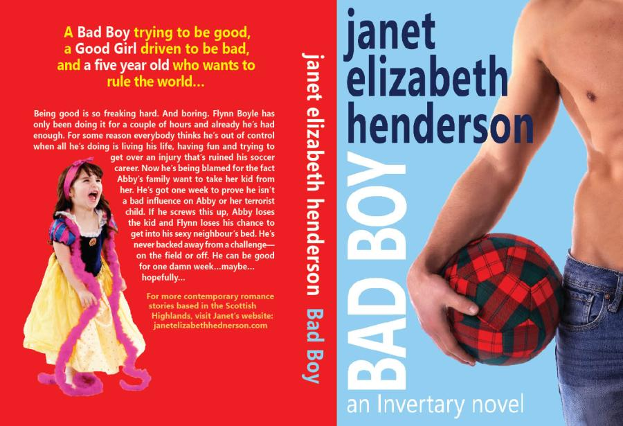 Bad Boy by janet elizabeth henderson paperback cover